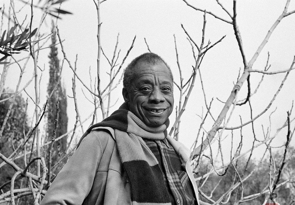 James Baldwin in the garden of his home in Saint-Paul de Vence