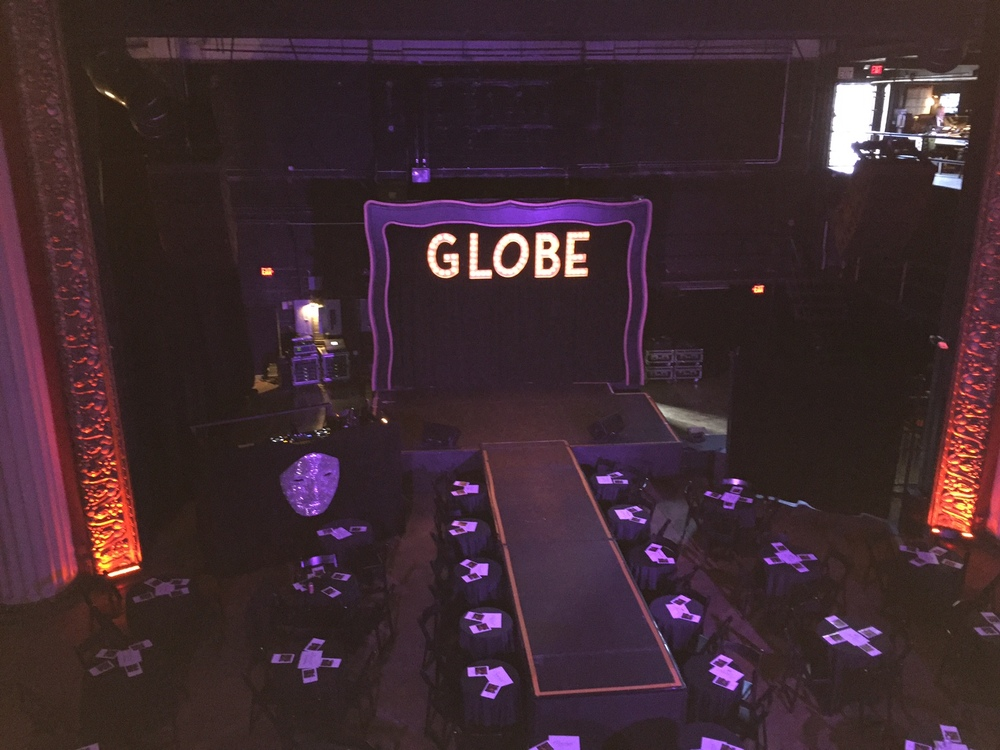 BEFORE THE SHOW BEGAN. THE GLOBE THEATER WAS BUILT IN 1913!