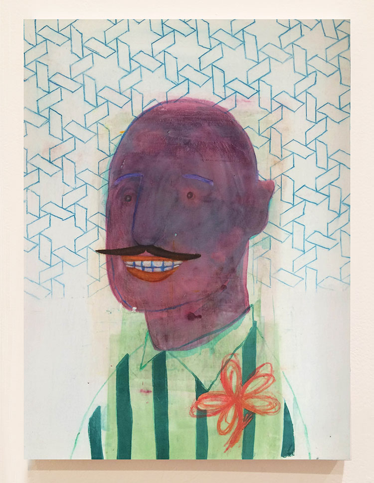 Groom, 24X18 inches, Fabric dye on stretched cotton