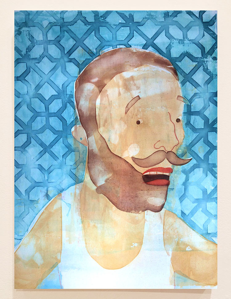 Let Me Take My Selfie,24X18 inches, Fabric dye on stretched cotton
