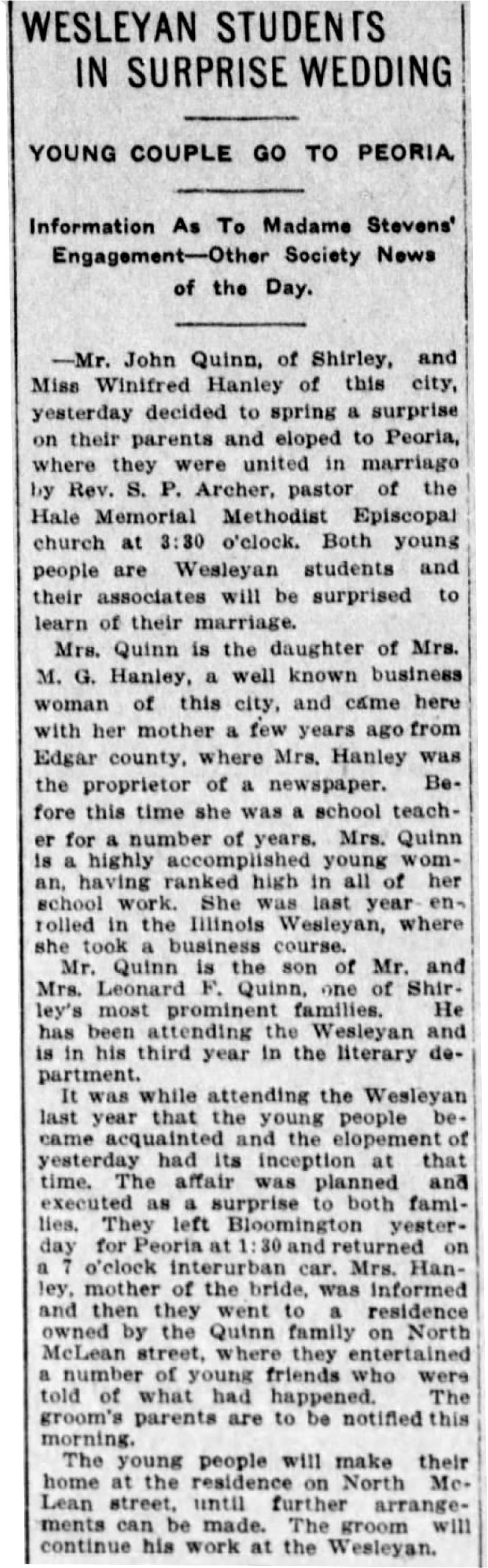 The Pantagraph (Bloomington, Illinois) Dec 8, 1911