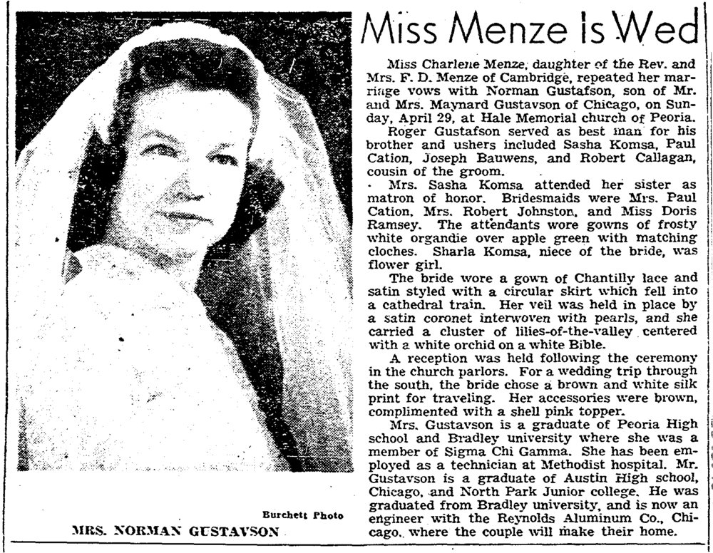 Peoria Journal Star May 8, 1951