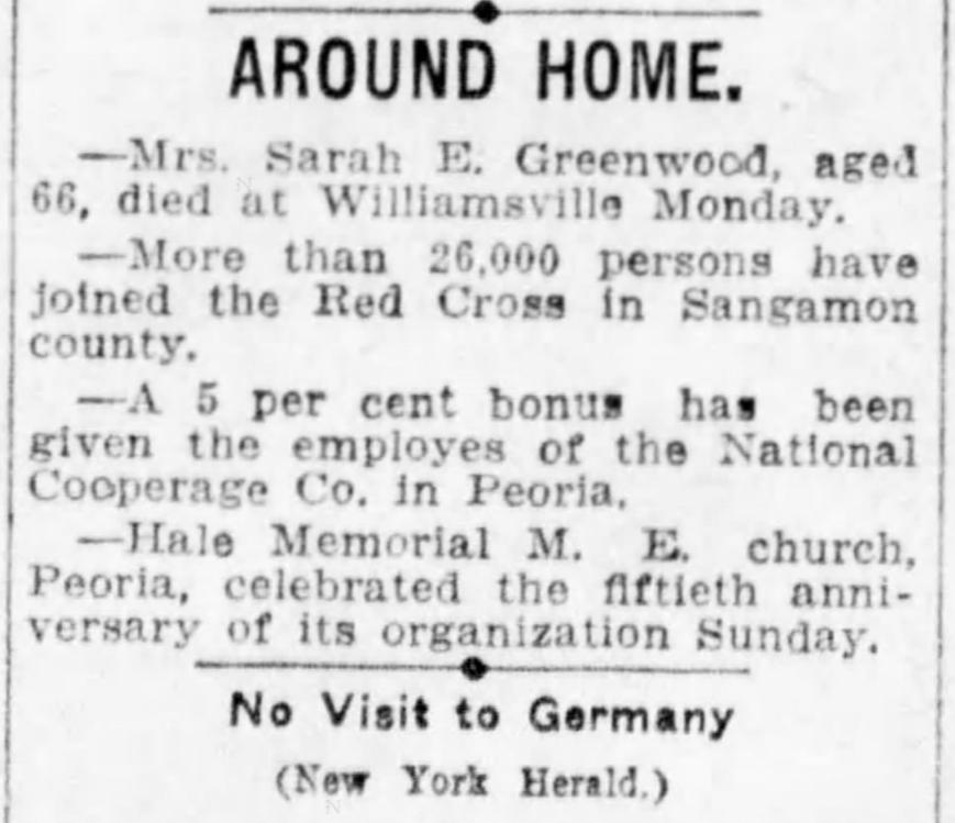 The Pantagraph (Bloomington, Illinois) Dec 25, 1918