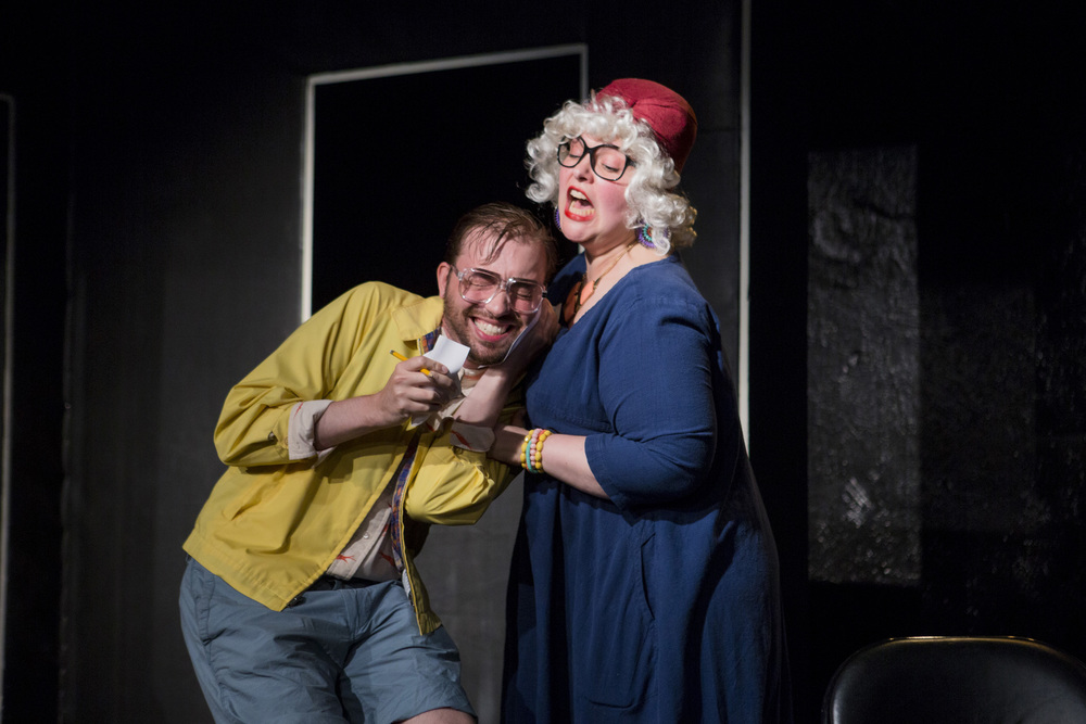 "Thanks so much for coming to ""JEFF'S JEWISH DATING SERVICE"" AT THE FLEA #SERIALS! We made it all the way to Episode 2. Enjoy this photo of Tressa Preston and Thomas Muccioli by Scott Fetterman."