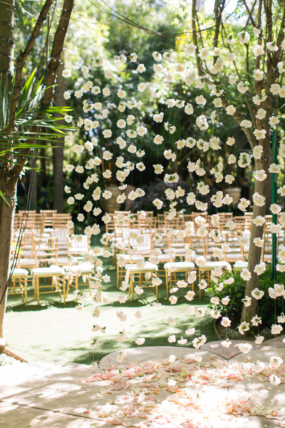 Hanging Flower Altar Backdrop