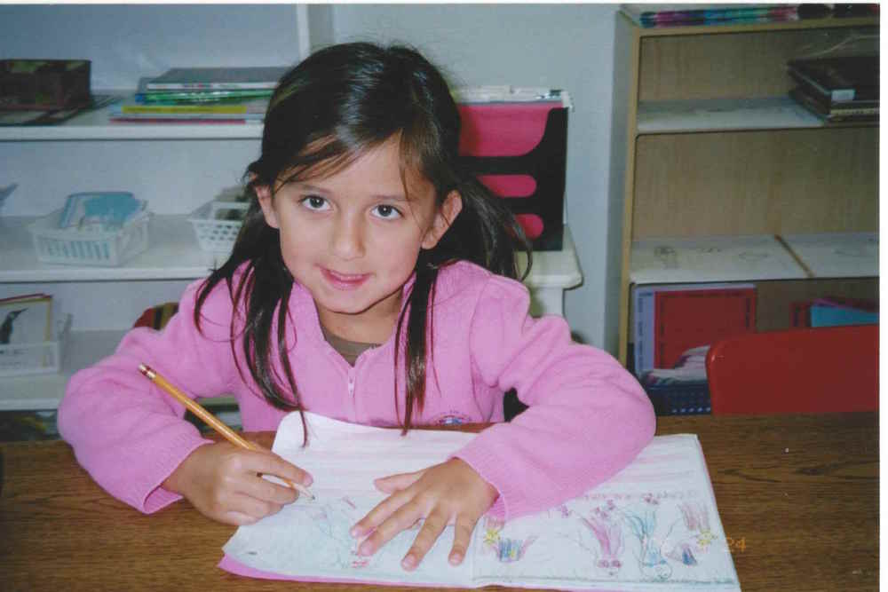 Jacqueline, 4 years old - Journal Writing