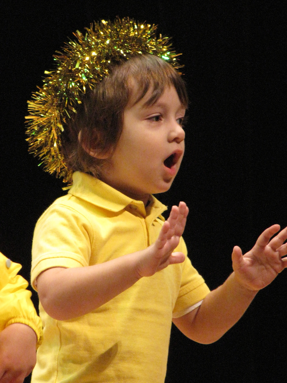 "Charlie singing ""Twinkle, Twinkle Little Star"" at a Christmas concert at the age of 2.5."