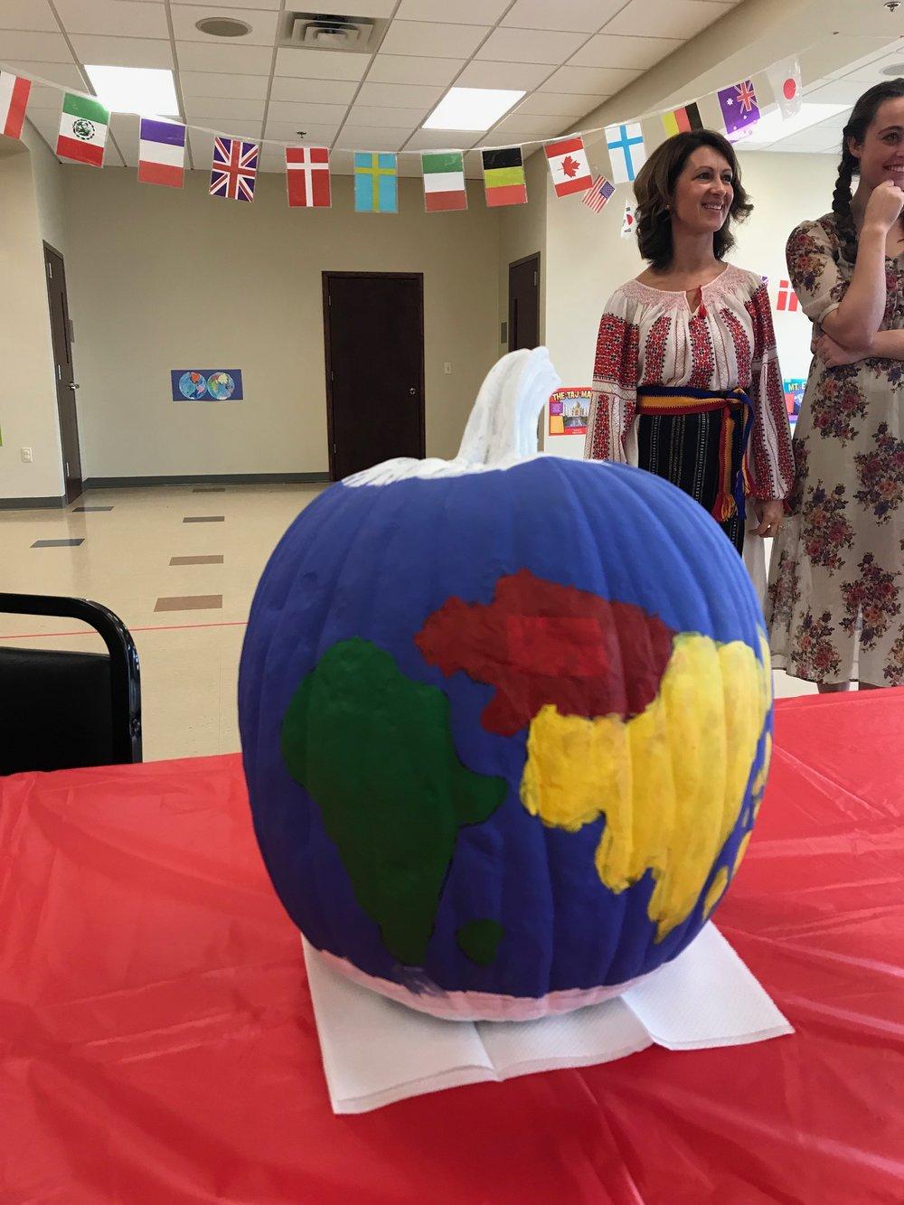 Our pumpkin globe