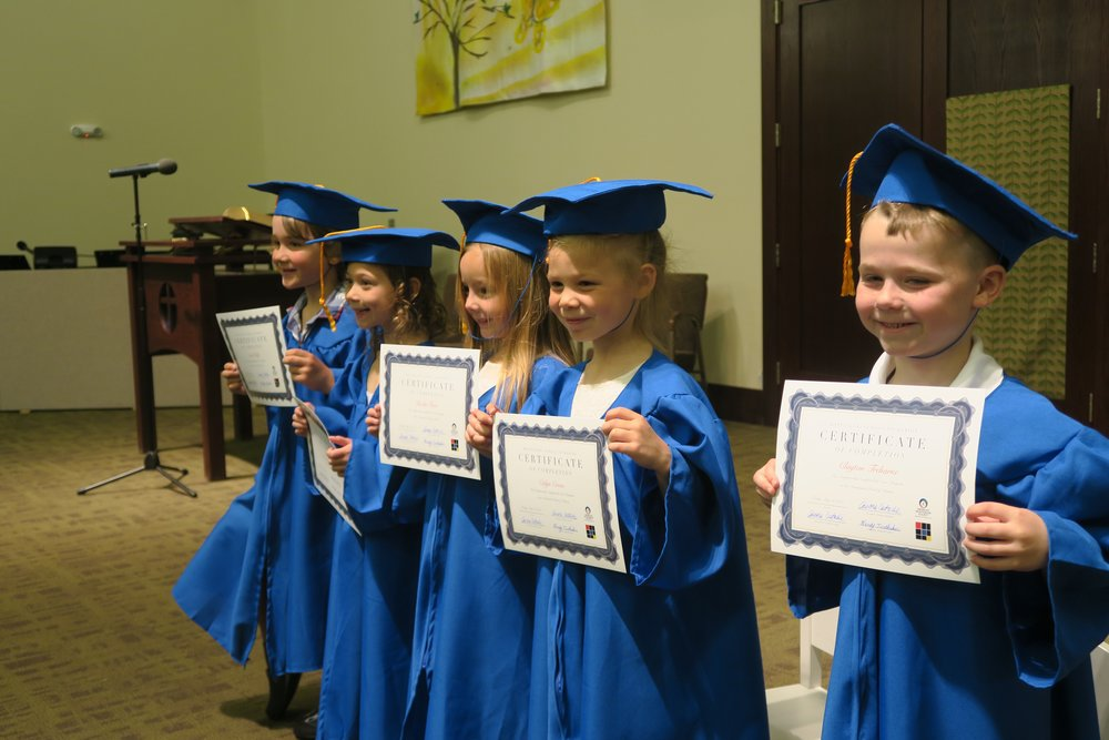 Casa graduation ceremony. Moving on to first grade.