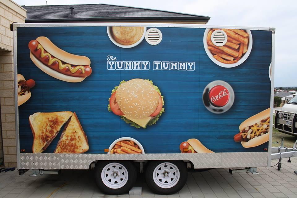 The Yummy Tummy Vinyl Trailer Wrap