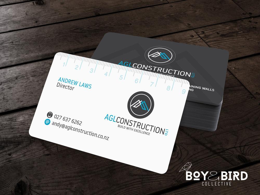 AGL Construction Logo Design & Business Cards