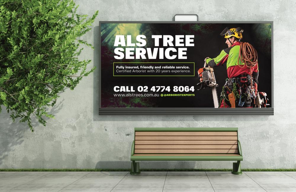 ALS Tree Service Billboard Signage