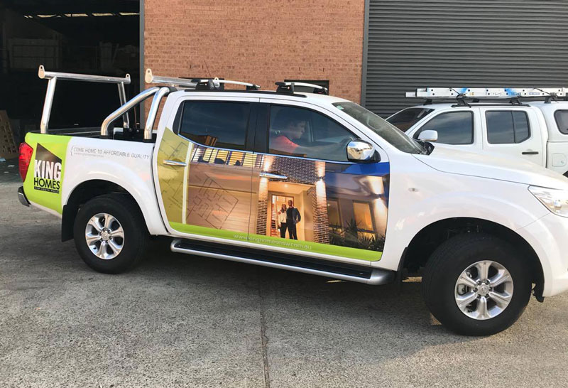 King Homes Vehicle Graphics