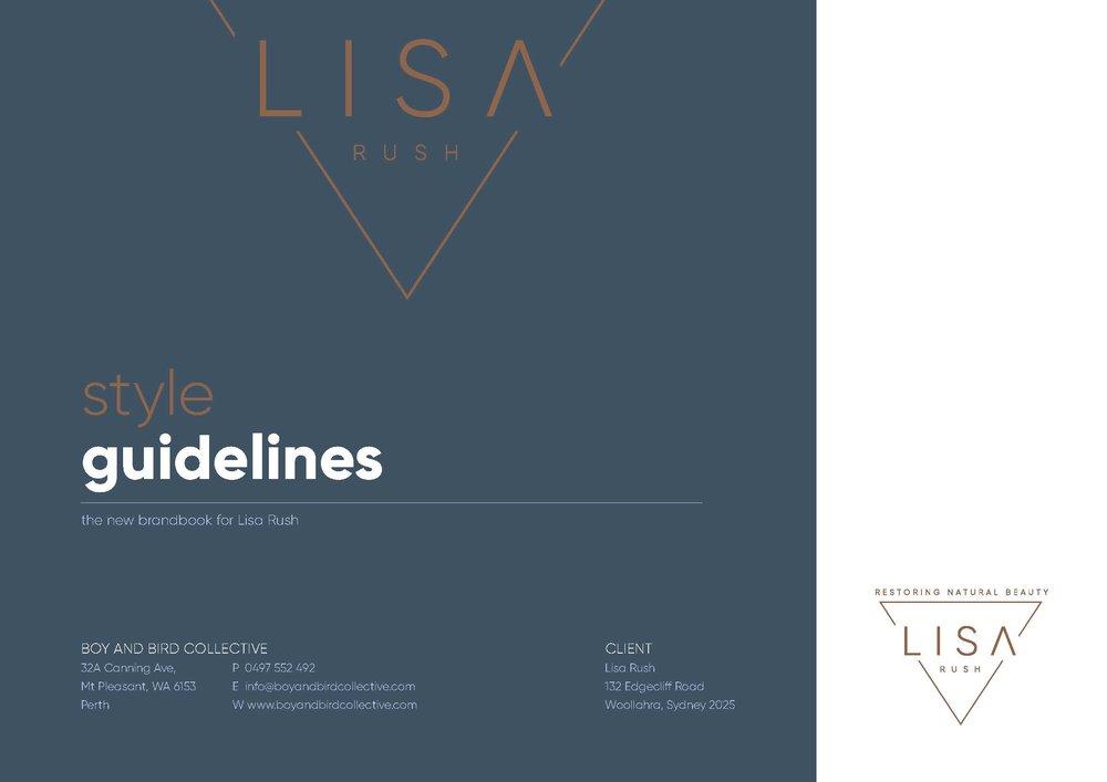 Lisa Rush Logo Design & Style Guide