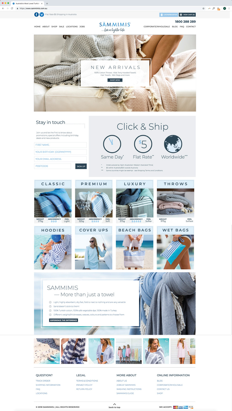 Sammimis Website Design