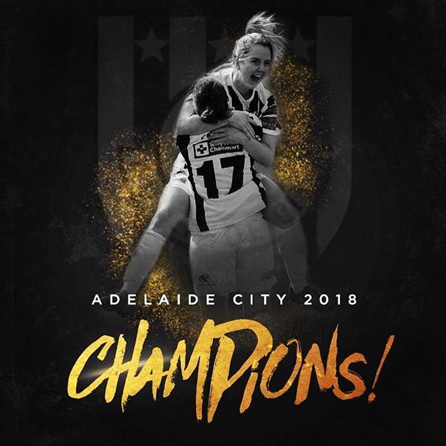 Congratulations @adelaidecity_fc 2018 WNPL Champions. Pic @8zerokms art @ricofreshmedia