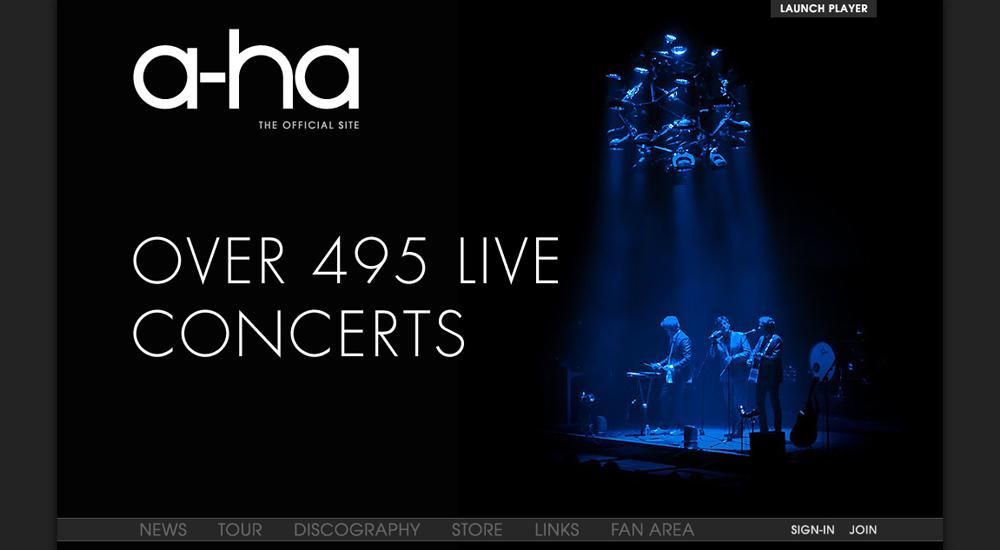 A-ha's final tour website