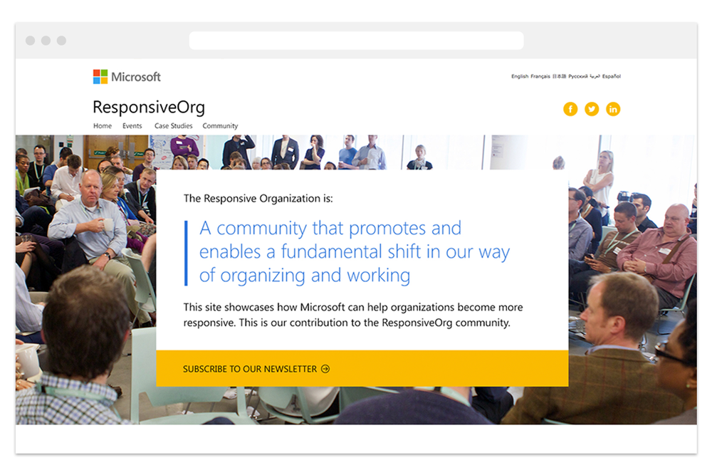Helping Microsoft showcase ResponsiveOrg