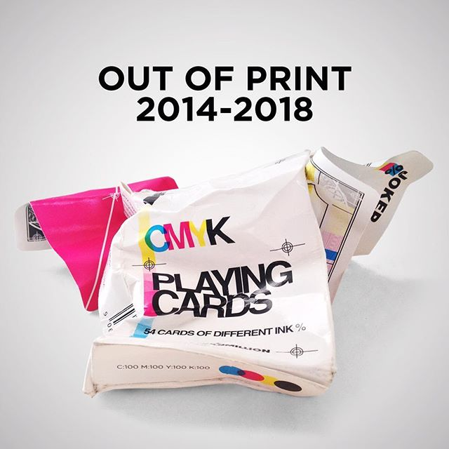 RIP CMYK, now out of stock forever