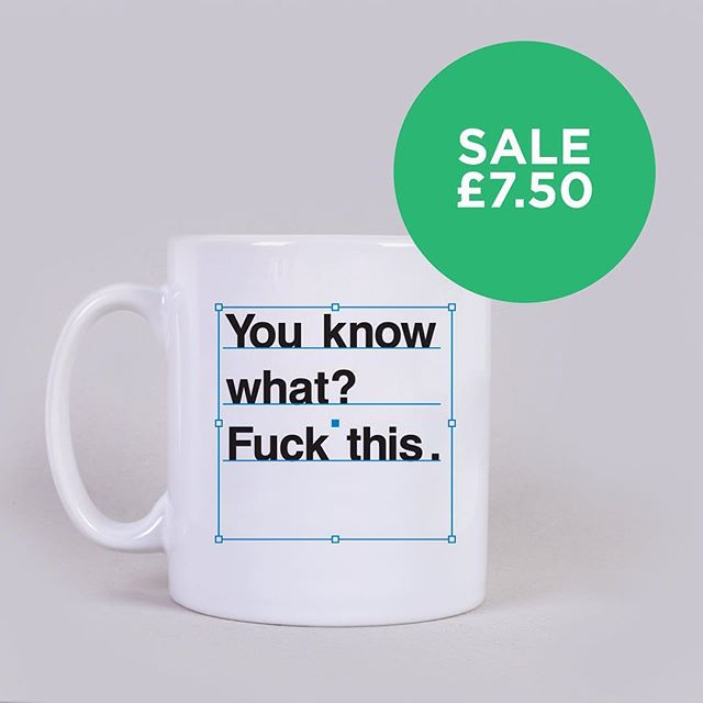 Spring cleaning! Our #fuckthis mugs are on sale to celebrate the fact Spring is about to be sprung (we know we know, it's snowing in the UK). Link in bio.