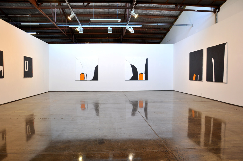 Landscape 2 & Landscape 3, 2015 (far wall)