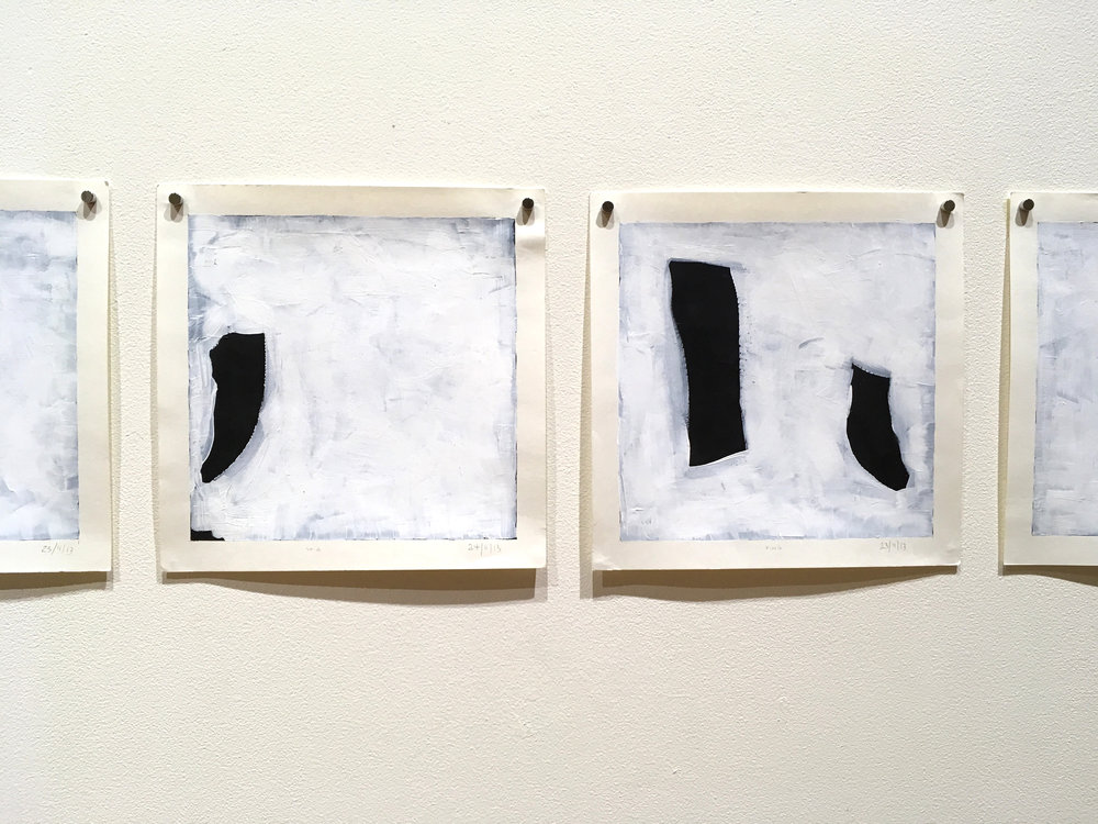 Travelling Sketches (white & black), 2014