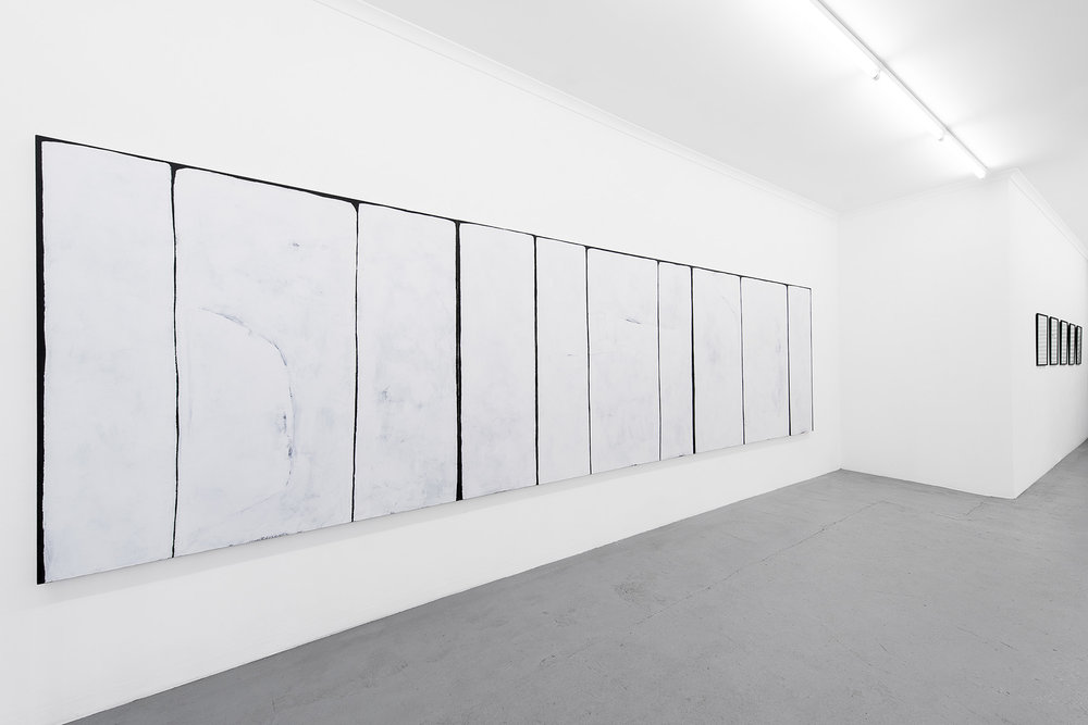 Against the sky , 2018, installation view, photograph courtesy of Galerie pompom