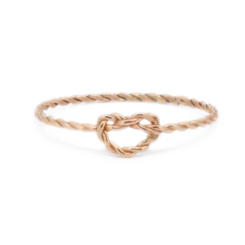 9ct Gold Rope Love Knot Ring — Ivy Nixon Jewellery