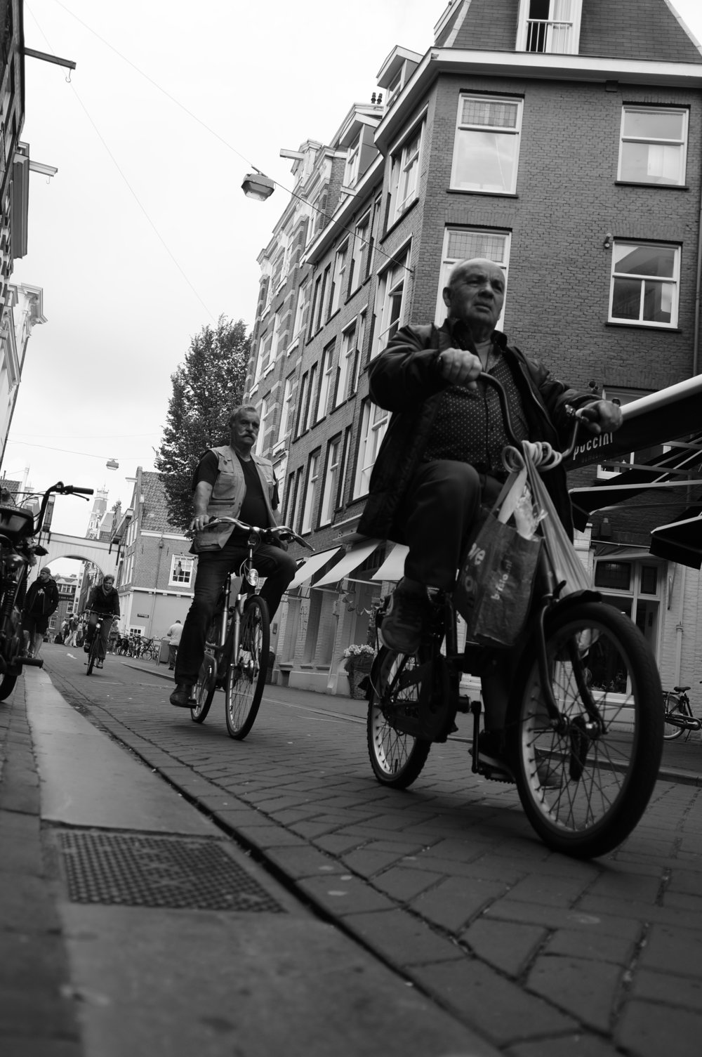 Of course, a photo shoot in Amsterdam won't be complete without the notorious bicycle shots.