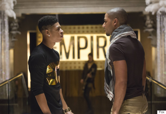 "EMPIRE: Tension mounts between Hakeem (Bryshere Gray, L) and Jamal (Jussie Smollett, R) in the ""Our Dancing Days"" episode airing Wednesday, Feb. 18 (9:01-10:00 PM ET/PT) on FOX. ©2014 Fox Broadcasting Co. CR: Chuck Hodes/FOX"