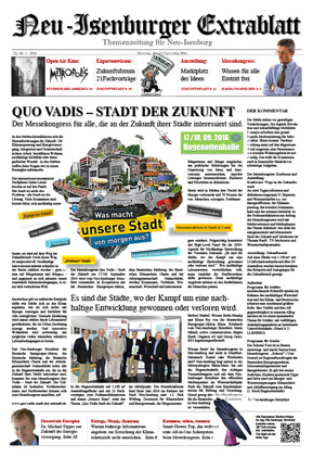 Quo Vadis Ausgabe August 2016 - Neu-Isenburger ExtrablattZum Download