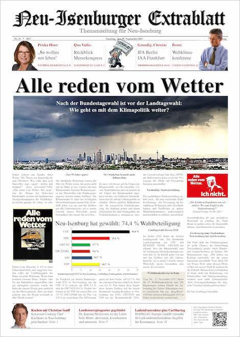 Quo Vadis AusgabeSeptember 2017 - Neu-Isenburger ExtrablattZum Download