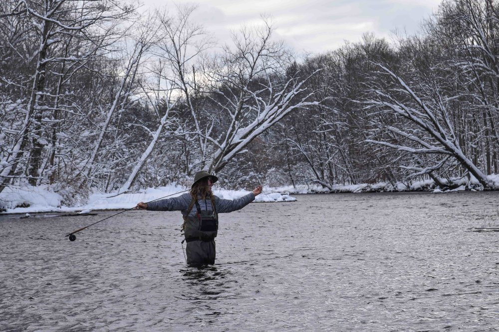 Guide Ice, Salmon River, New York