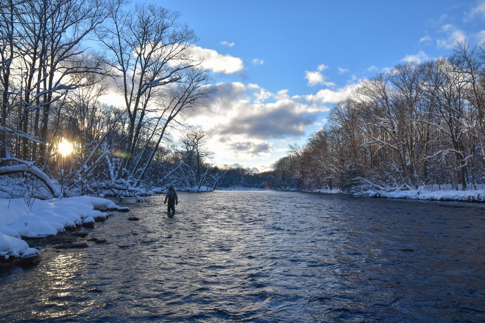 Trudging Home, Salmon River, New York