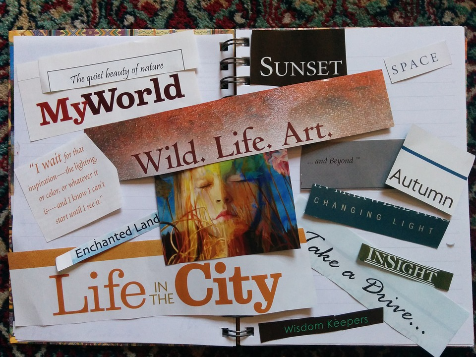 Example of a vision board from https://www.pixabay.com