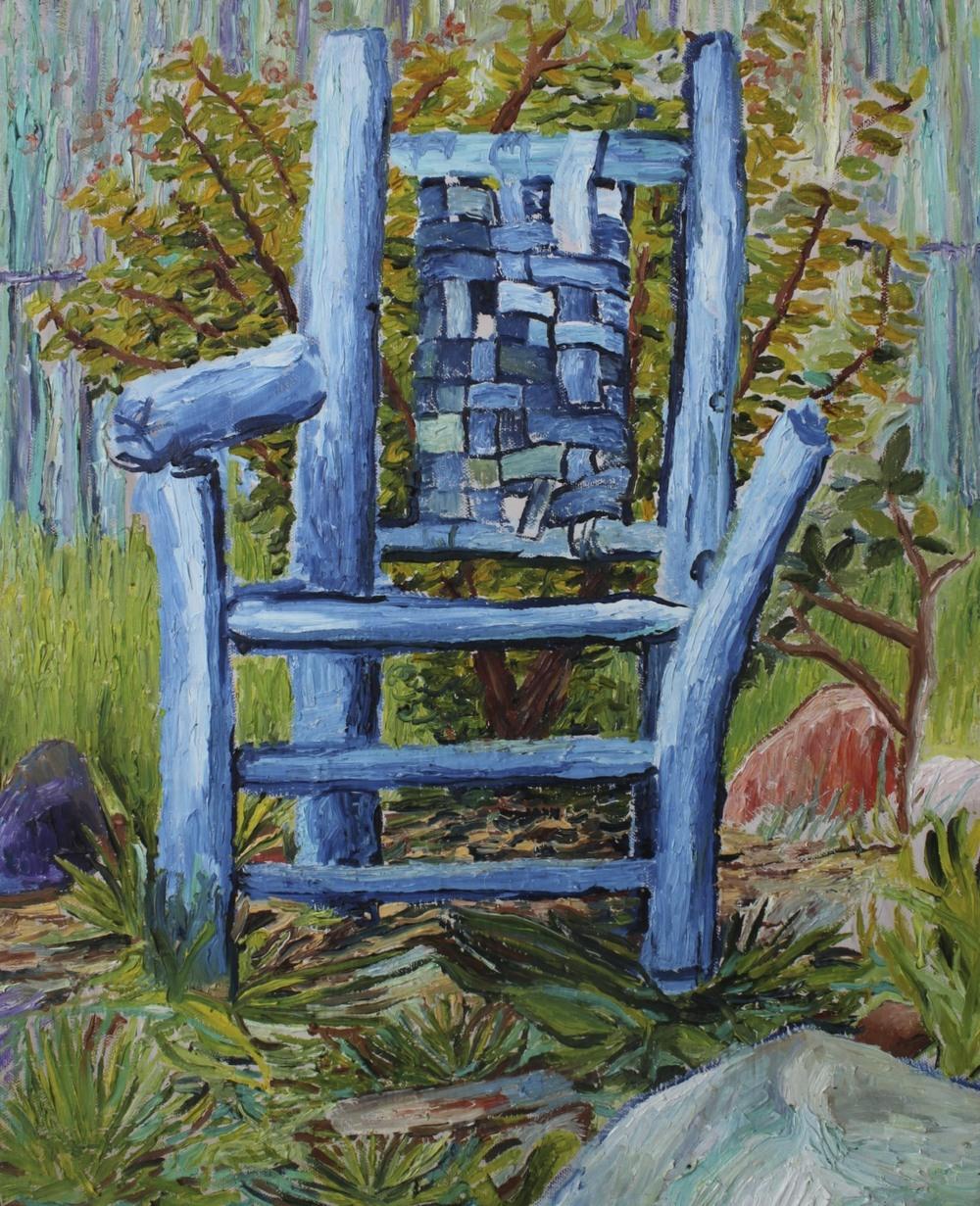 Blue Chair.