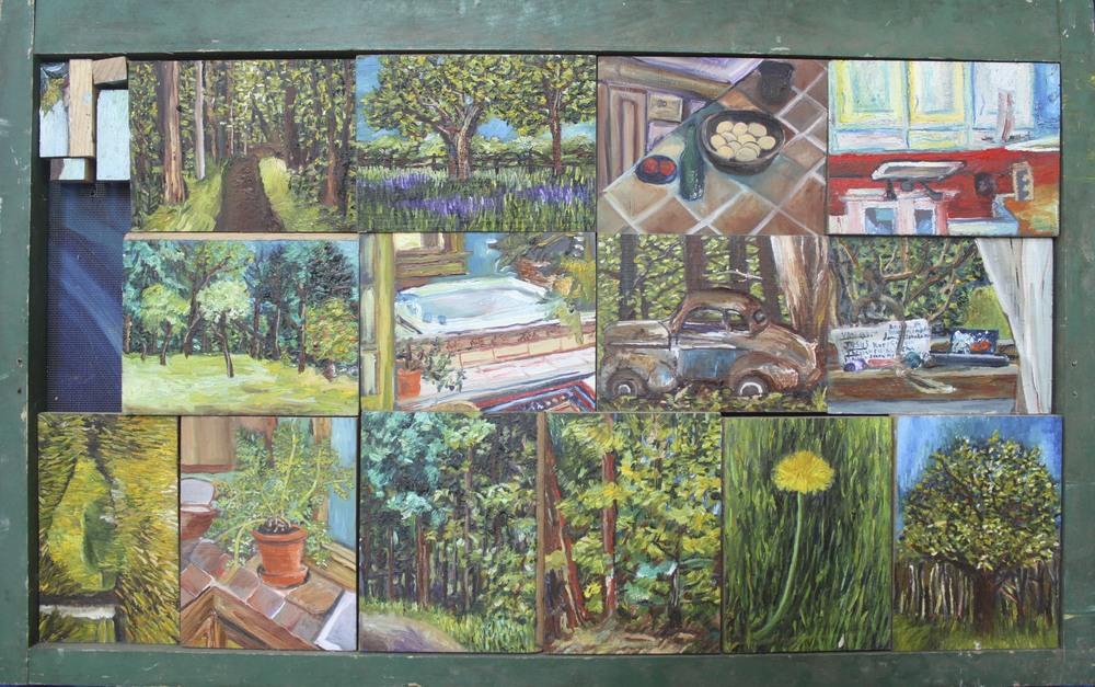 Farm Spots. 18 x 28 in. Oil on wood. 2011.