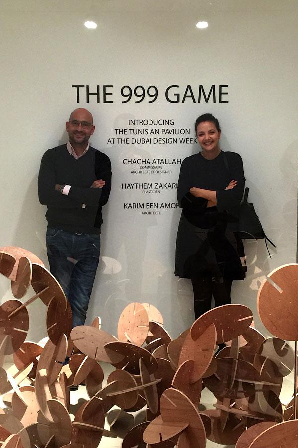 Karim Ben Amor et Chacha Atallah, designers du 999 GAME, avec Haythem Zakaria