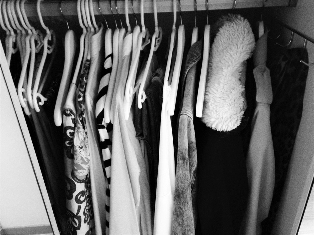 Wardrobe in a mess