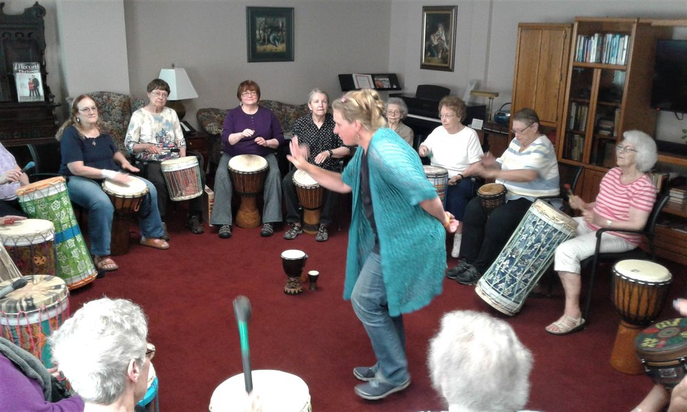 Healthy Alternatives - Drumming Just Might              Create Connection            Help you Relax ... yes, it is possible!               Get your cells movin' and groovin'!                   Balance brainwave activity                      Increase your focus                          Burn a few calories                              Add fun to living healthier!