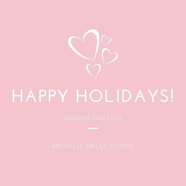 Happy Holidays from the #MichelleMelerStudio team ❤️ May your day be spent with loved ones! Wishing you many blessings and a Happy Holiday Season. xo, Michelle