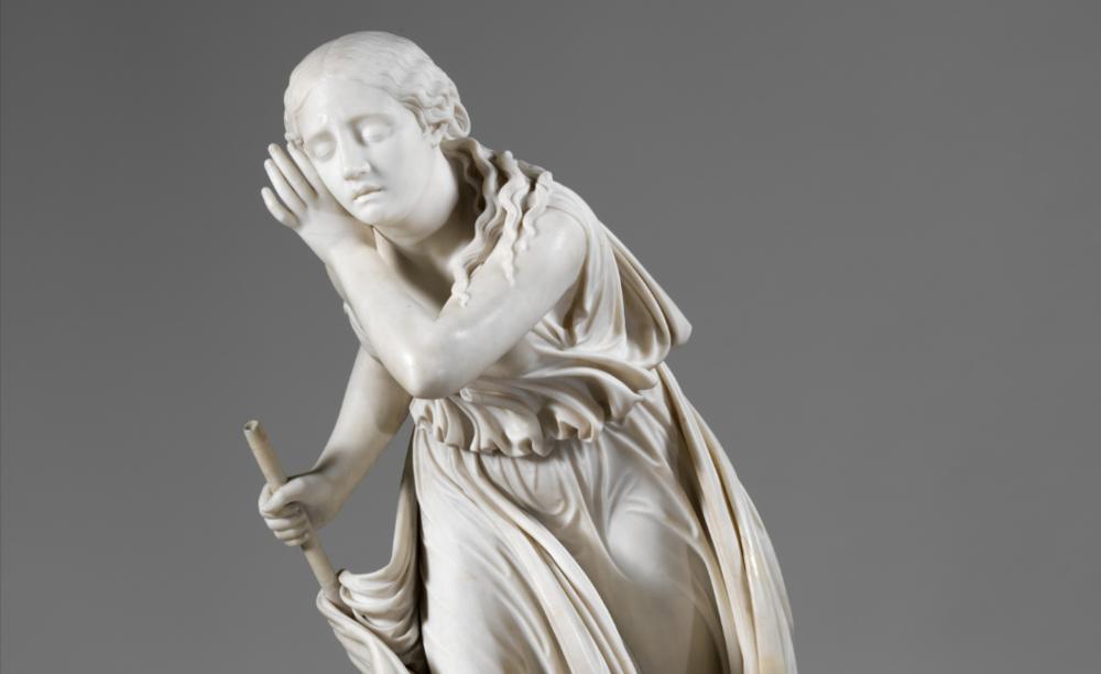 Nydia, Blind Flower Girl of Pompeii  (1859), Artist: Randolph Rogers