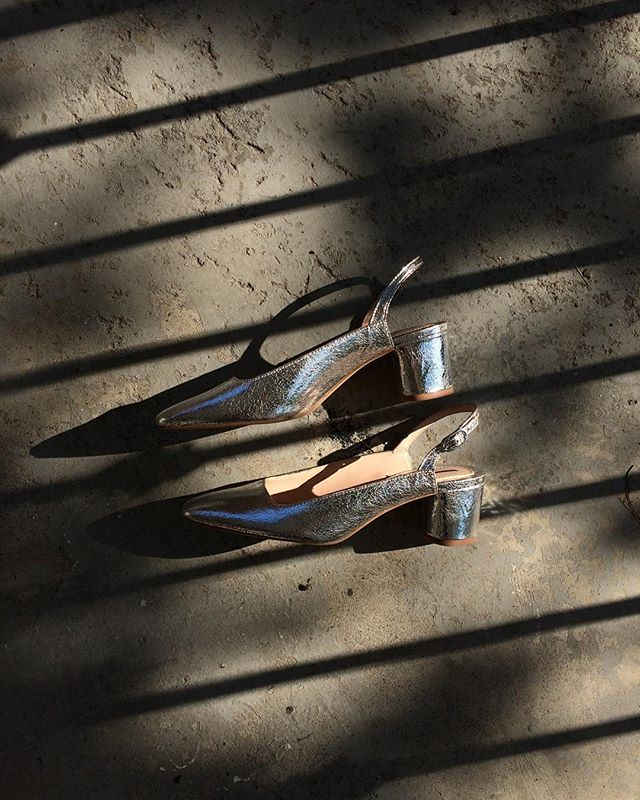 Silver slingback (brand new/never worn) / size 38 / SOLD