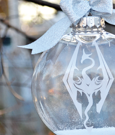 Skyrim Christmas Ornament