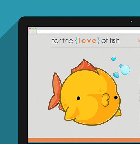 For the Love of Fish Website Design