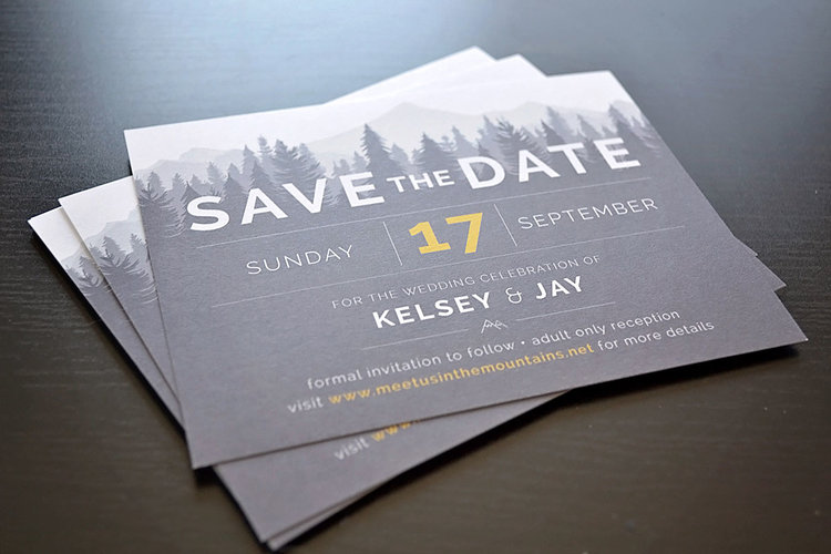 kelsey jay wedding save the dates wired life