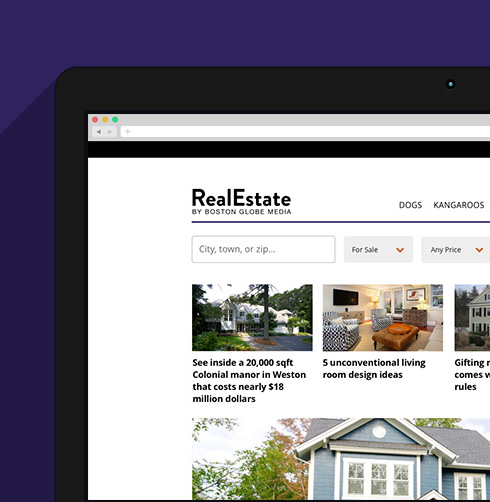 RealEstate Home Page Redesign