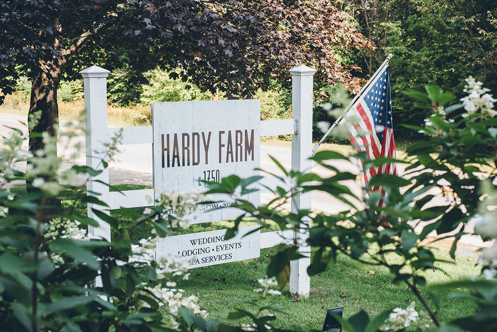 Hardy Farm barn venue in Maine. Mountain and forest DIY wedding.