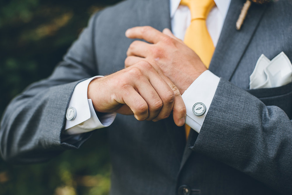 Mountain and forest wedding cufflinks