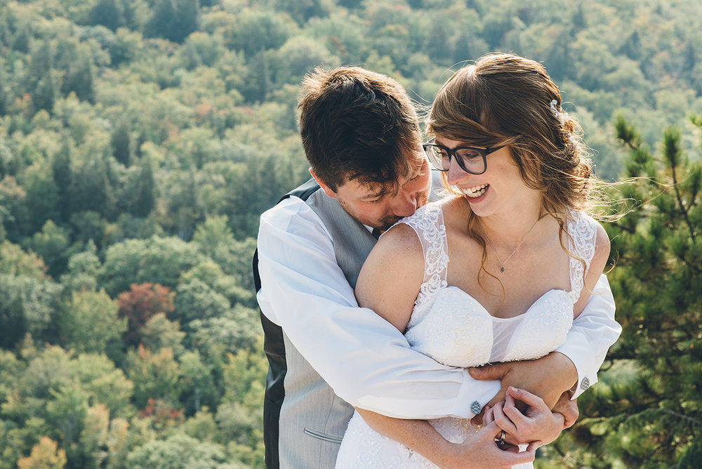 Mountain and forest DIY wedding